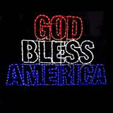 LED God Bless America Words