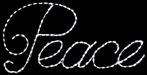 "LED Peace 31.5"" x 61.5"" Sign"
