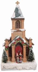 LED Lighted, Musical Christmas Church Figurine *WHILE THEY LAST*