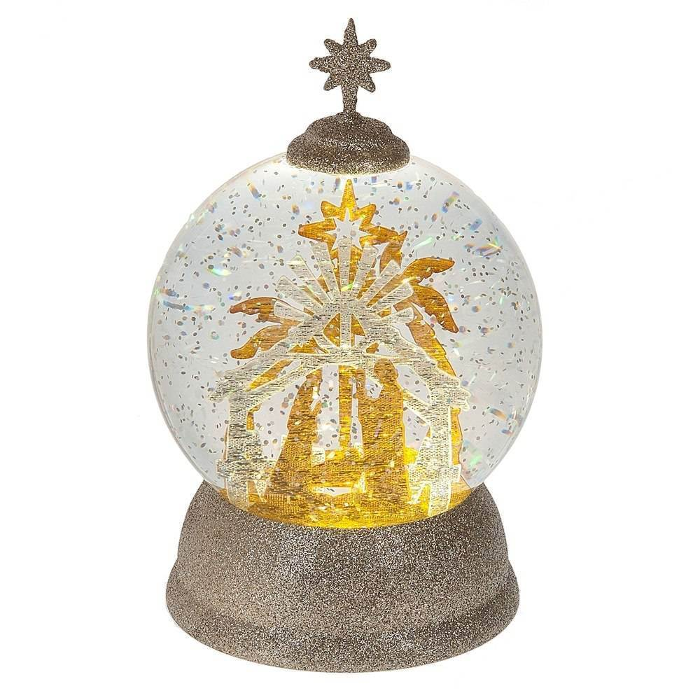 LED Shimmer Nativity Dome
