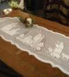 Lace Nativity Table Runner