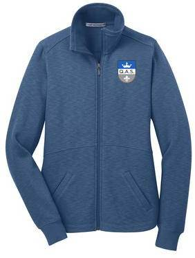 Ladies Full Zip Slub Fleece Jacket w/Embroidered QAS Logo *SPIRITWEAR*