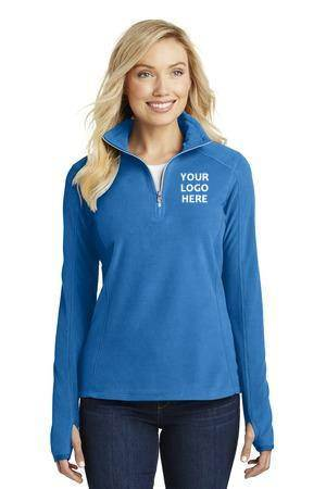 Ladies Quarter Zip Lightweight Fleece w/ Embroidered School Logo *Spiritwear*