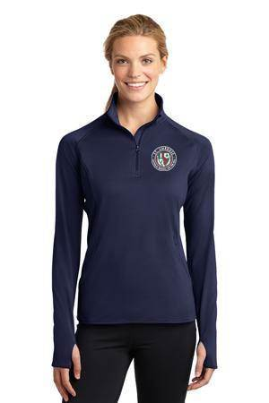 Ladies Quarter Zip Pullover with Embroidered St. Ambrose Logo *Spiritwear*