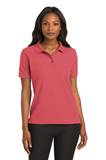 Ladies Short Sleeve Polo, With Embroidered School Logo on Left Chest