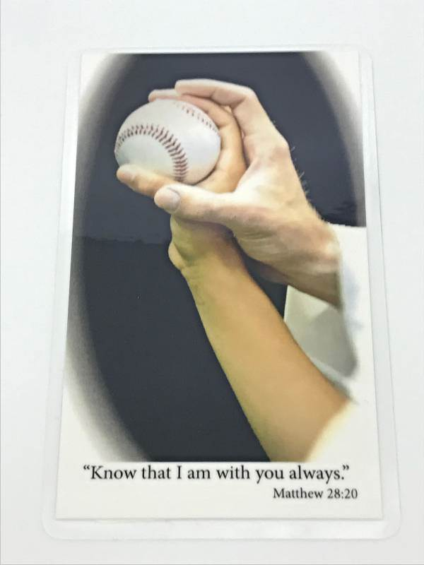 Laminated Prayer Card-Baseball communion gift, reconciliation gift, confirmation gift,prayer car, youth gift,  sport prayer card, sports prayer, prayer for athletes, baseball gift, baseball prayer card