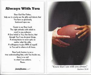 Laminated Prayer Card-Football