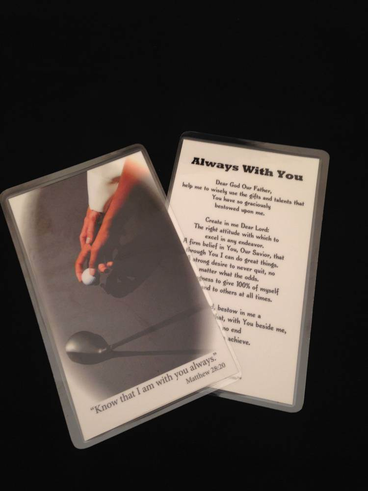 Laminated Prayer Card-Golf