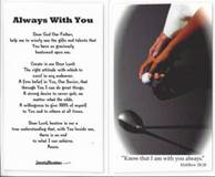 Laminated Prayer Card-Golf communion gift, reconciliation gift, confirmation gift,prayer car, youth gift,  sport prayer card, sports prayer, prayer for athletes, golf gift, golf prayer card