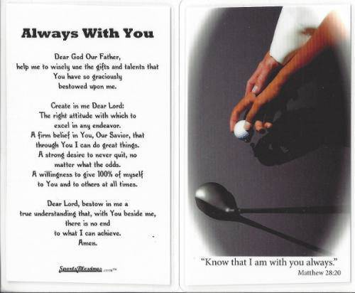 Laminated Prayer Card-Golf - 33540