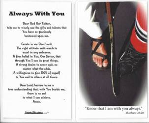 Laminated Prayer Card-Hockey