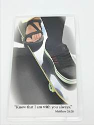 Laminated Prayer Card-Skateboard