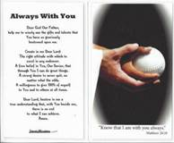 Laminated Prayer Card-Softball