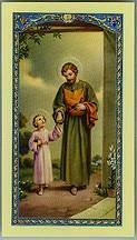Laminated St. Joseph Prayer Card st joseph, prayer card, laminated prayer card, fathers day gift, dad gift,