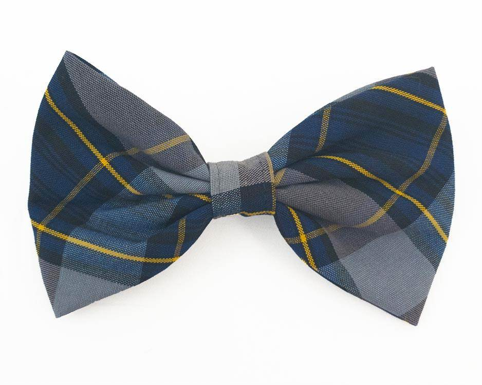 Large Clip Bow, Plaid #57
