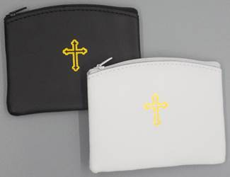 Large Leather Rosary Pouch