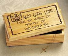 Laser Engraved Wood Keepsake Box