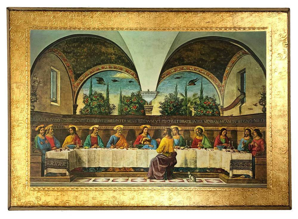Last Supper Gold Leaf Wall Hanging from Italy
