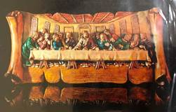 "Last Supper Scroll Wall Plaque, 12""x4"""