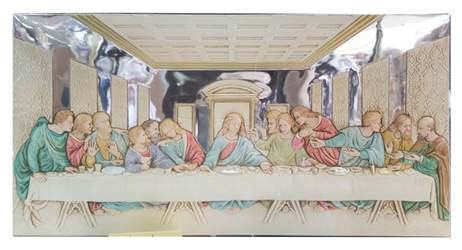 Last Supper Silver Plated Plaque