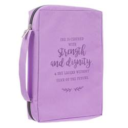 Lavender Strength and Dignity Bible Cover