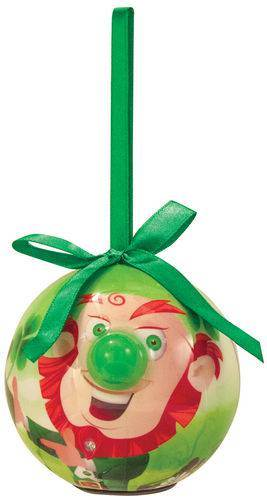 Leprechaun Lighted Nose Ball Ornament