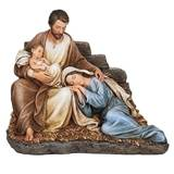"Let Mum Rest Sleeping Mary with Baby Jesus & Joseph 6.7"" Figurine"