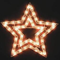 Lighted Nativity Star
