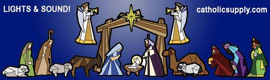 Lighted Storytelling Outdoor Nativity Set