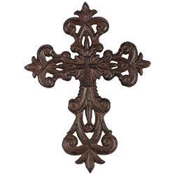Lily Tuscan Cast Iron Wall Cross