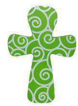 Green Swirl Wall Cross wall cross, colorful wall cross, cross, wood wall cross, retro wall cross, girls cross, girl gift, mom gift, mothers day gift, birthday gift, special occasion gift