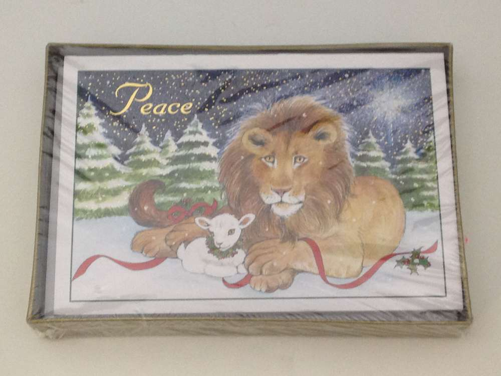 Lion & Lamb Boxed Christmas Cards *WHILE THEY LAST* christmas cards, box cards, holiday cards, lion and lamb cards, 15013X