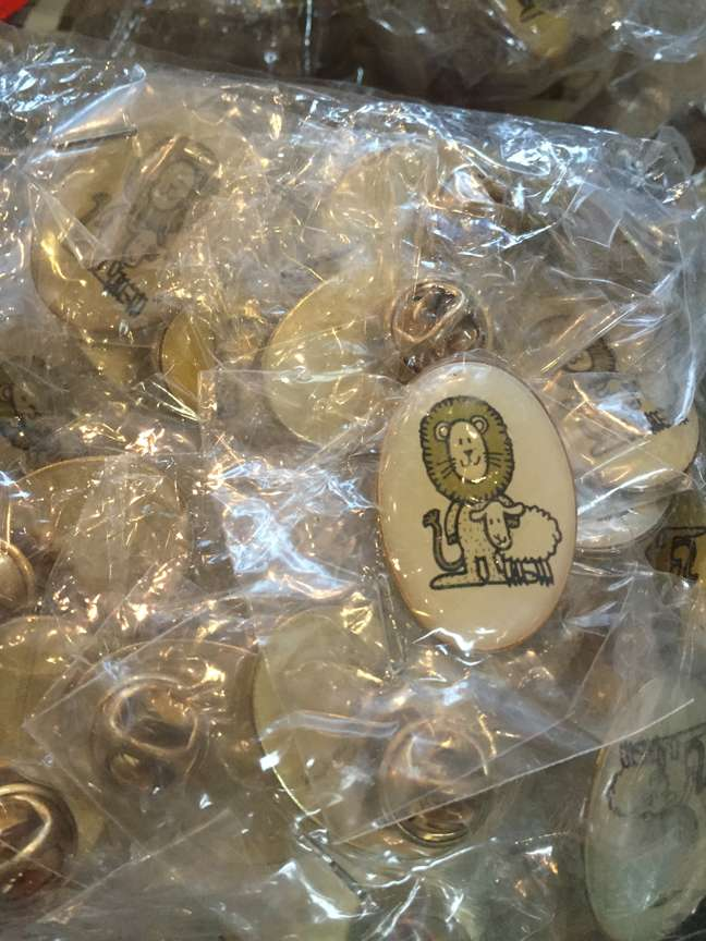 Lion & Lamb Lapel Pin, Pack of 25