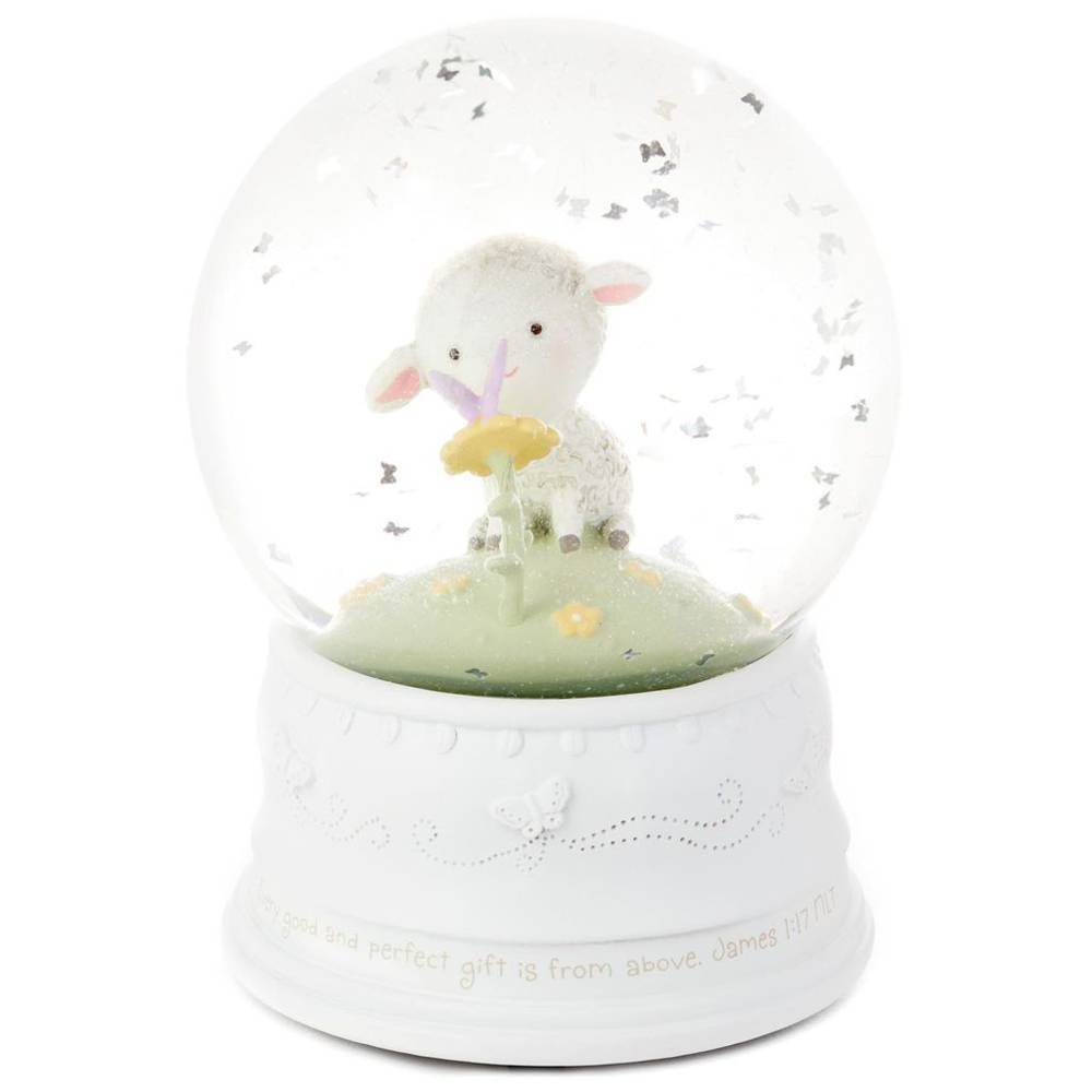 Little Lamb Religious Musical Water Globe