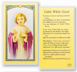 Little White Guest Christ Child Holy Card