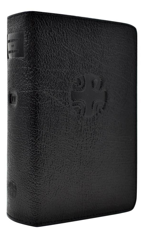 Liturgy of the Hours Leather Zipper Case Vol 4 Black Crafted in rich, supple leather with a zipper closure, this durable and luxurious case is worthy of holding and protecting the official prayer of the Church, the Liturgy of the Hours, volume IV.