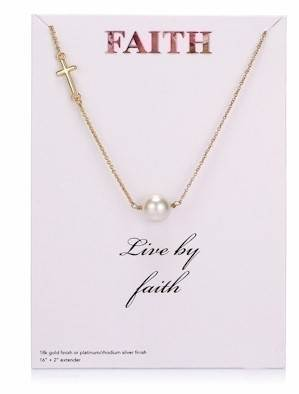 Live By Faith Gold Necklace