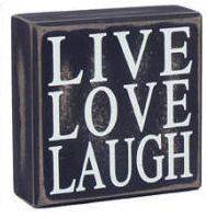 Live Love Laugh Wood Plaque