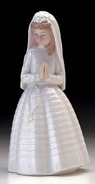 Lladro Nao First Communion Figurine first communion gift, girl gift, holy eucharist gift, first communion figurine, lladro nao figurine, holy eucharist figurine
