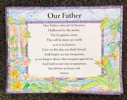 Lord's Prayer Laminated Poster