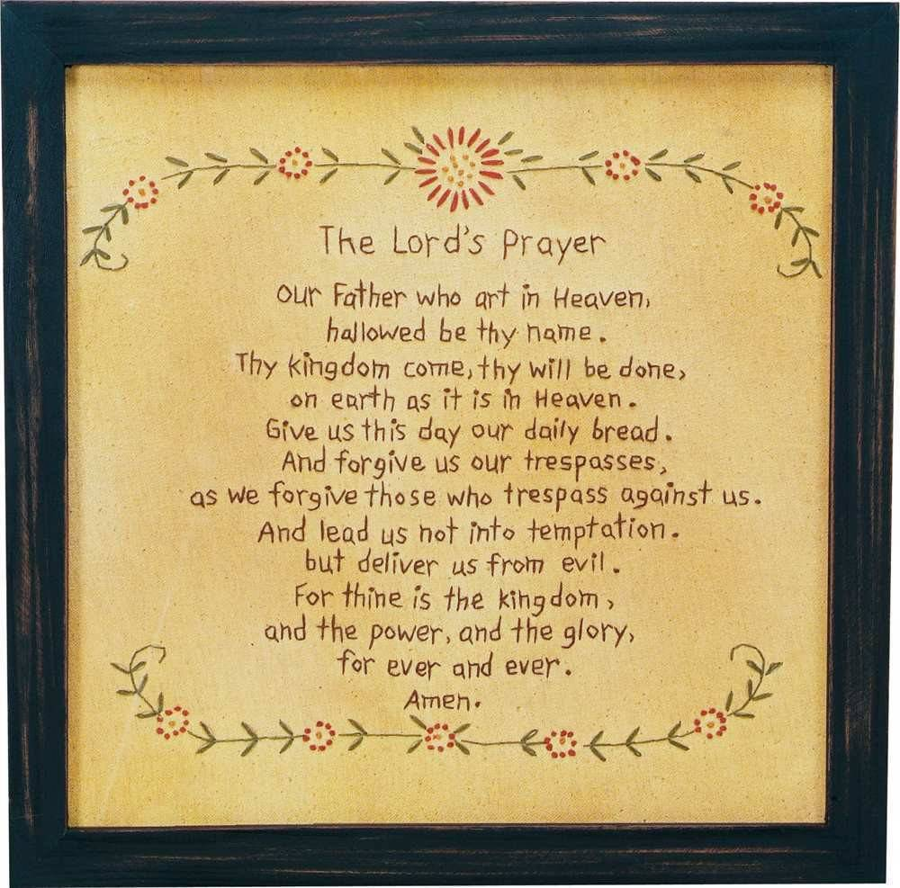 Lord's Prayer Stitched Picture