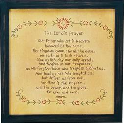 Lords Prayer Stitched Picture