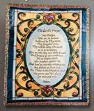 Lords Prayer Tapestry Throw 50 X 60