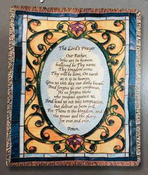 Lord's Prayer Tapestry Throw 50 X 60