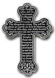 'Lord's Prayer' Wall  Cross