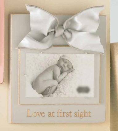 Love At First Sight Frame Antique Heather Grey Blue Wood Frame