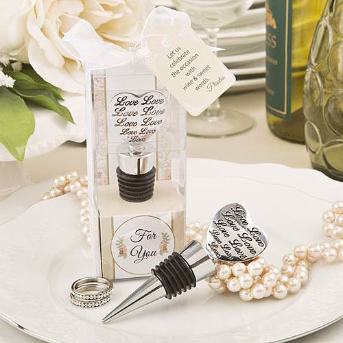 Love Engraved Wine Bottle Stopper, Favor wedding favor, love favor