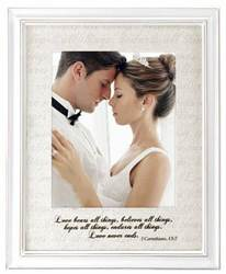 Love Letters Wedding Frame