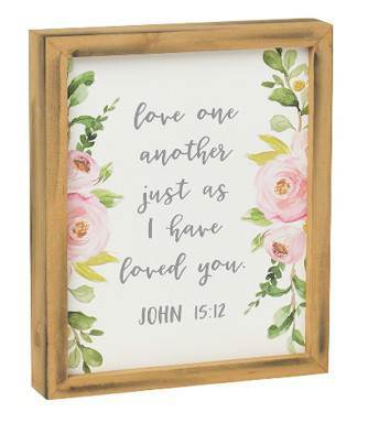 Love One Another Framed Box Sign