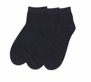 Low Cut Black Sock 3 PACK